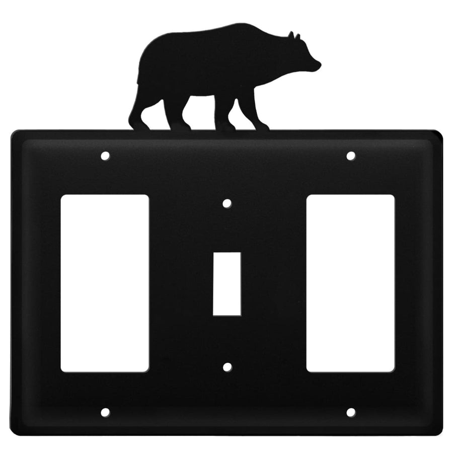 Wrought Iron Bear GFCI Switch GFCI Cover light switch covers lightswitch covers outlet cover switch