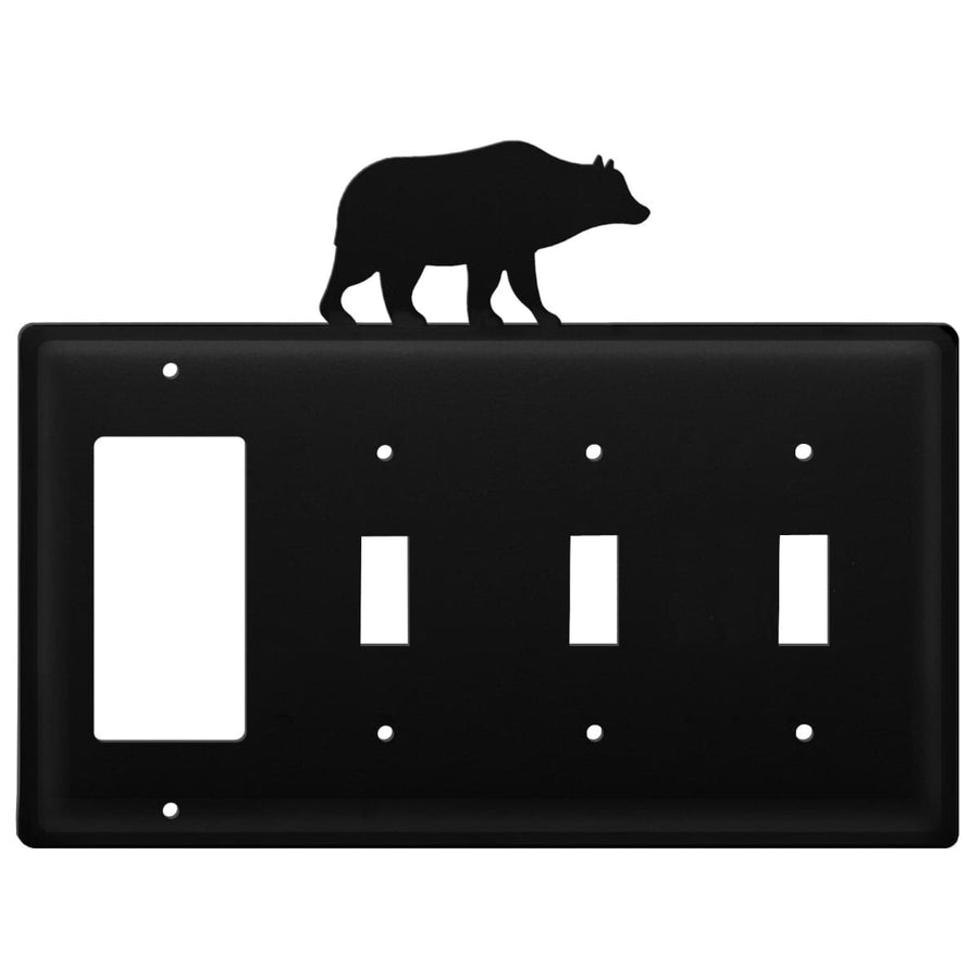 Wrought Iron Bear GFCI Triple Switch Cover light switch covers lightswitch covers outlet cover