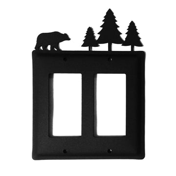 Wrought Iron Bear Moose Double GFCI light switch covers lightswitch covers outlet cover switch