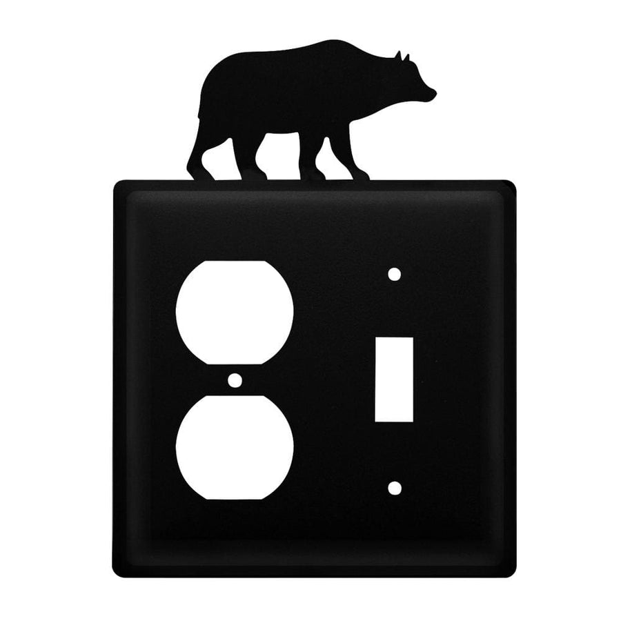 Wrought Iron Bear Outlet & Switch Cover light switch covers lightswitch covers outlet cover switch