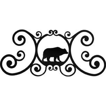 Wrought Iron Bear Over Door Plaque door plaque house signs metal name plaques metal plaques name