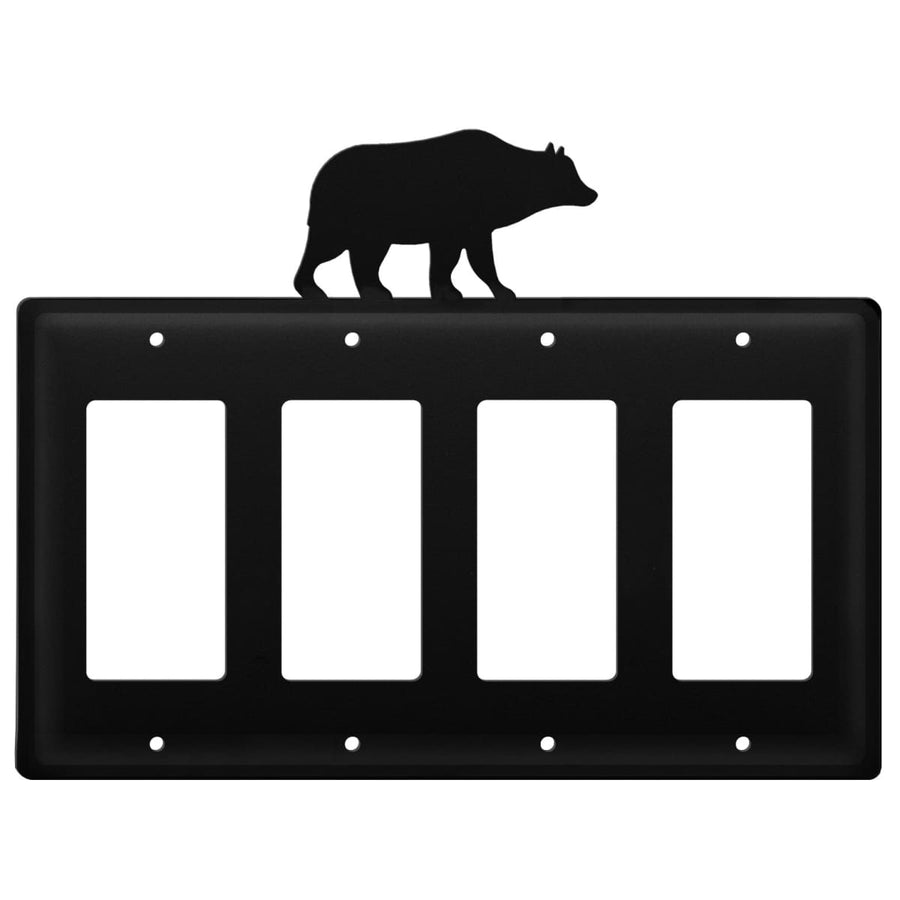 Wrought Iron Bear Quad GFCI Cover light switch covers lightswitch covers outlet cover switch covers