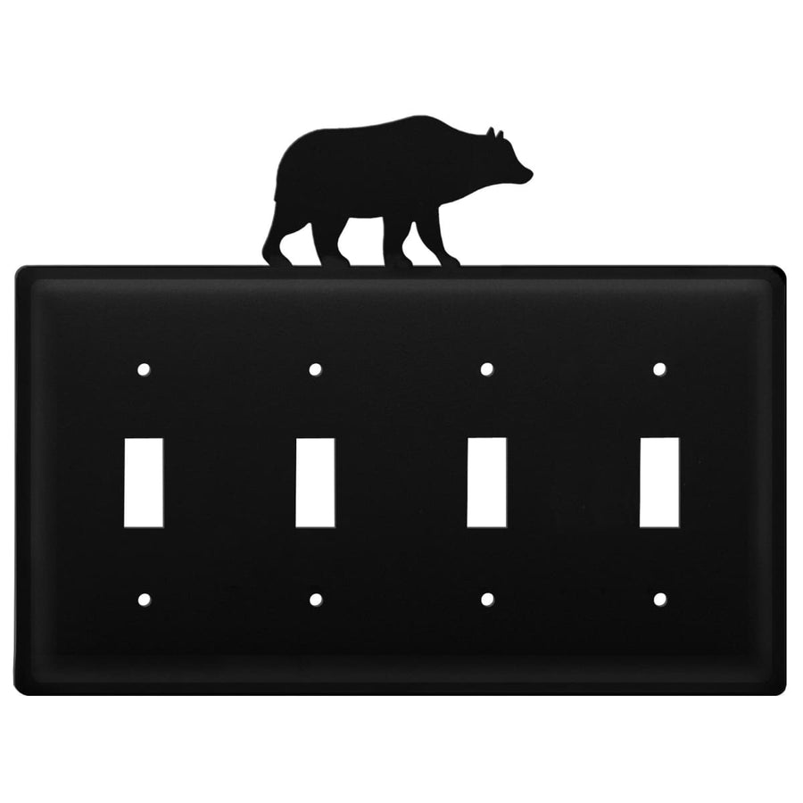 Wrought Iron Bear Quad Switch Cover light switch covers lightswitch covers outlet cover switch