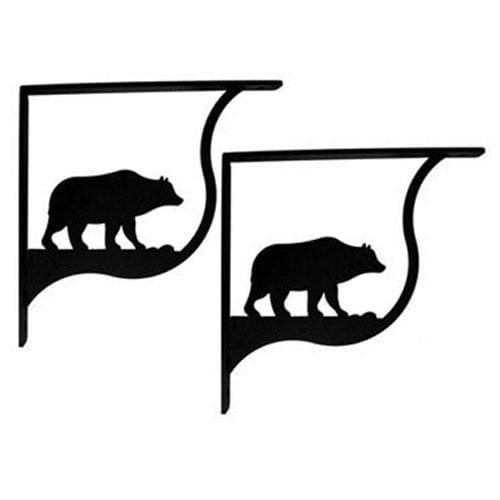 Wrought Iron Bear Shelf Brackets Corner Accent -3 Sizes Available floating shelves floating wall