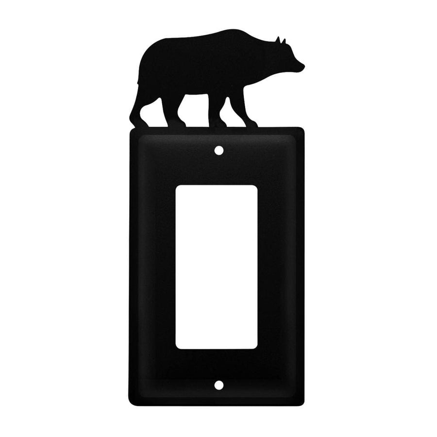 Wrought Iron Bear Single GFCI Cover light switch covers lightswitch covers outlet cover switch