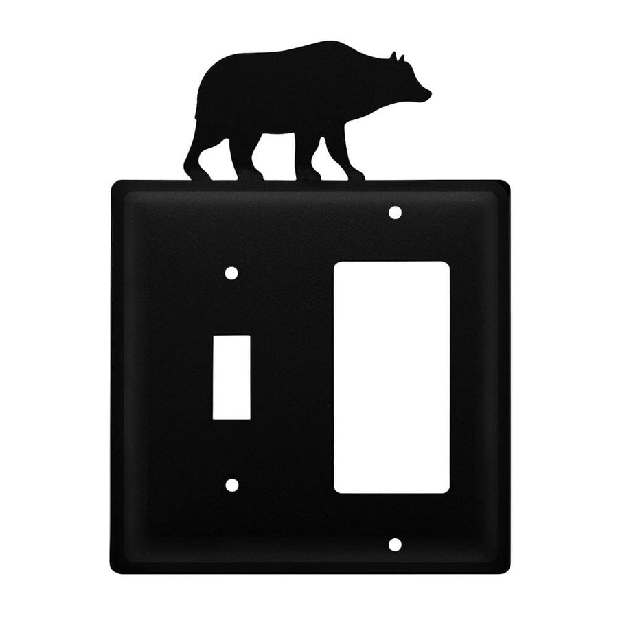 Wrought Iron Bear Switch GFCI Cover light switch covers lightswitch covers outlet cover switch