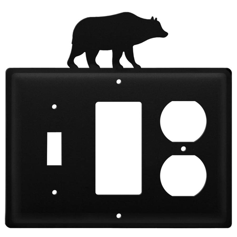 Wrought Iron Bear Switch GFCI Outlet Cover light switch covers lightswitch covers outlet cover