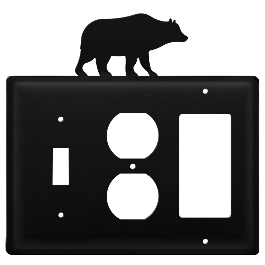 Wrought Iron Bear Switch Outlet GFCI Cover light switch covers lightswitch covers outlet cover