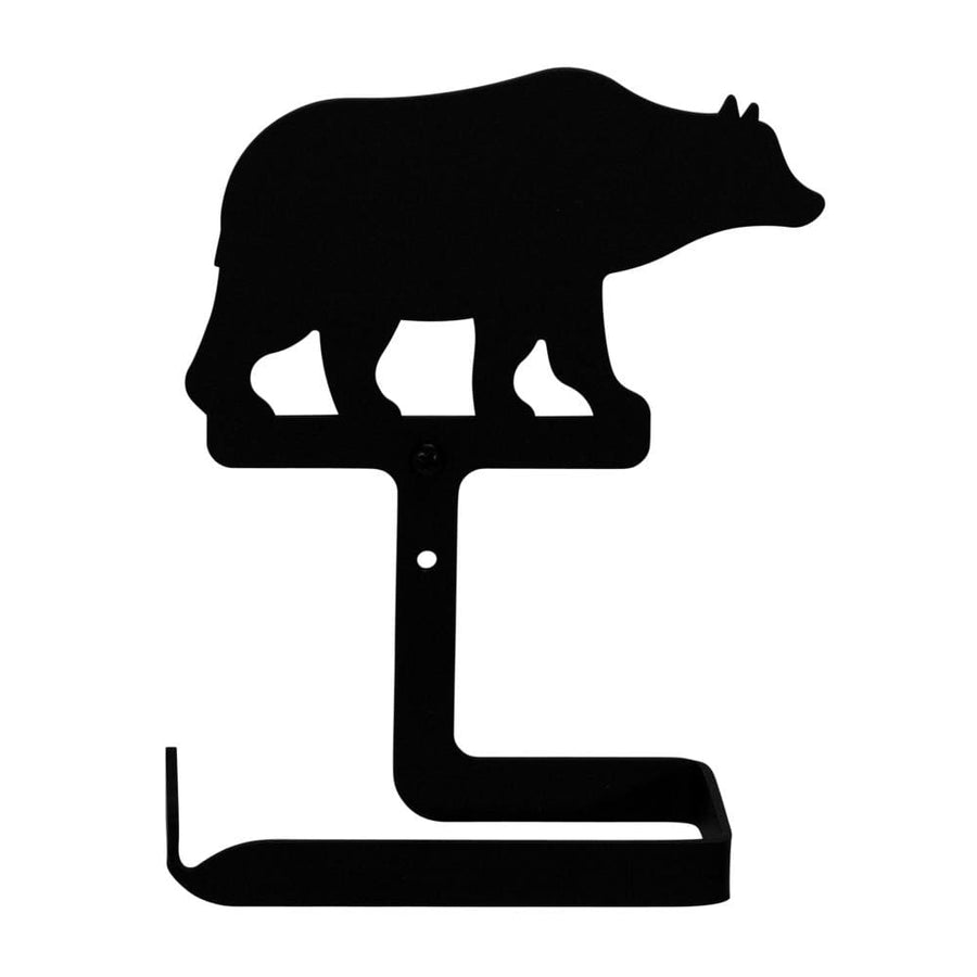 Wrought Iron Bear Toilet Tissue Holder toilet holder toilet paper toilet paper holder toilet paper