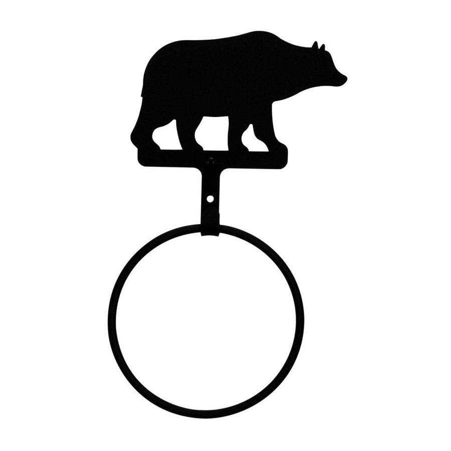 Wrought Iron Bear Towel Ring Towel Rack bathroom towel rails black wrought iron towel rack towel