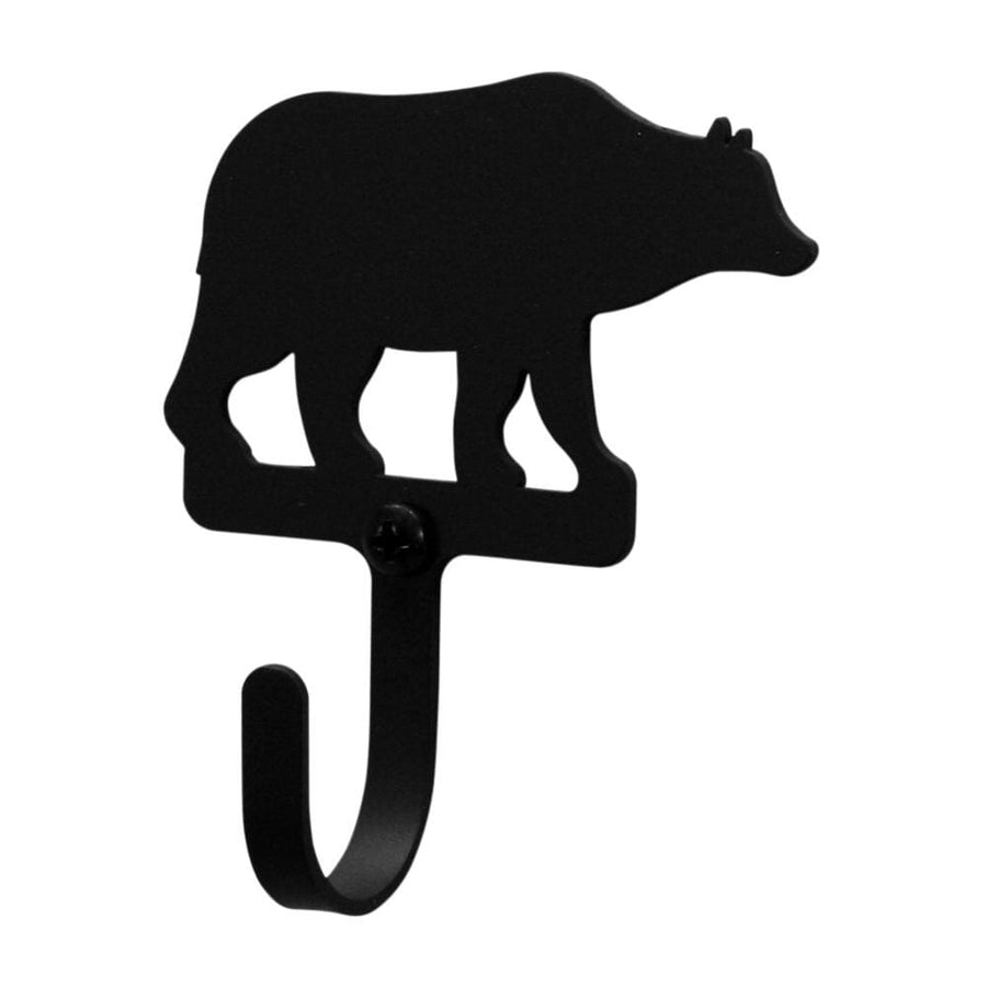 Wrought Iron Bear Wall Hook Decorative Xsmall bear hook Bear Wall Hook coat hooks door hooks hook
