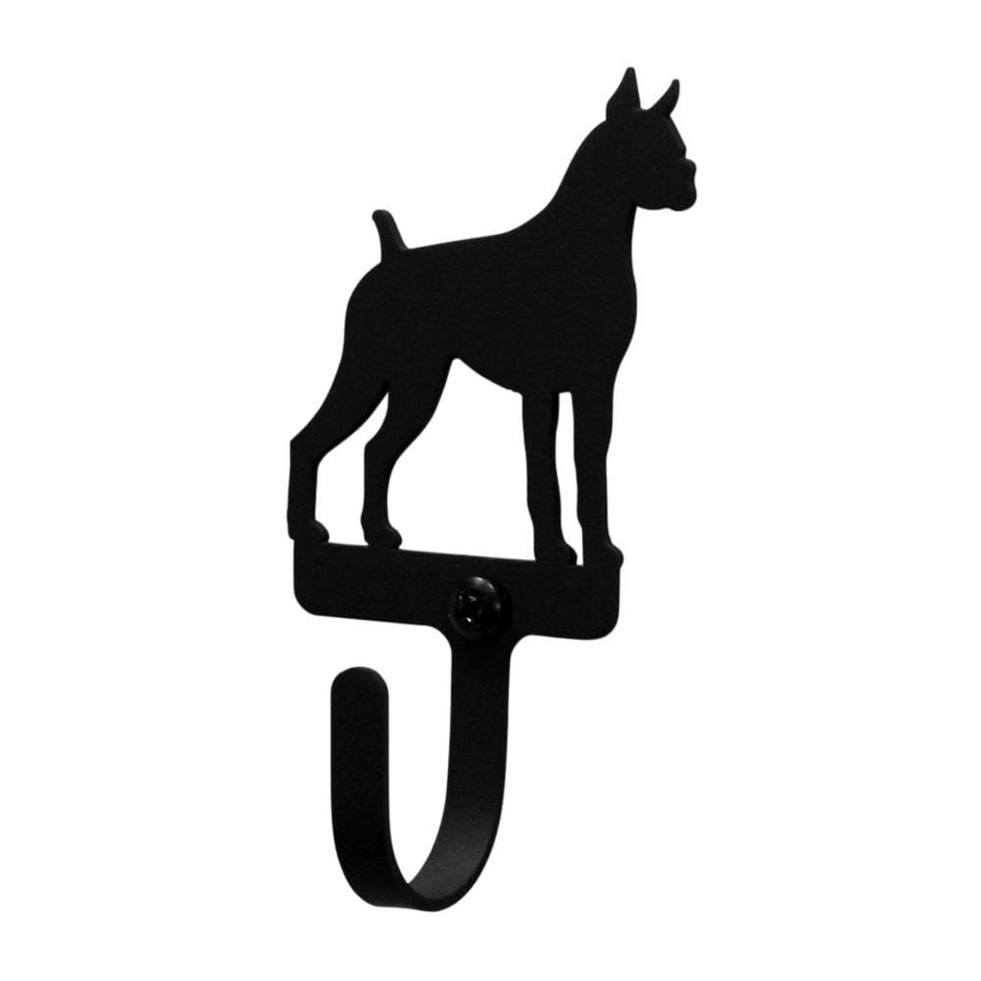 Wrought Iron Boxer Dog Wall Hook Decorative Small Boxer Dog Wall Hook boxer hook coat hooks door