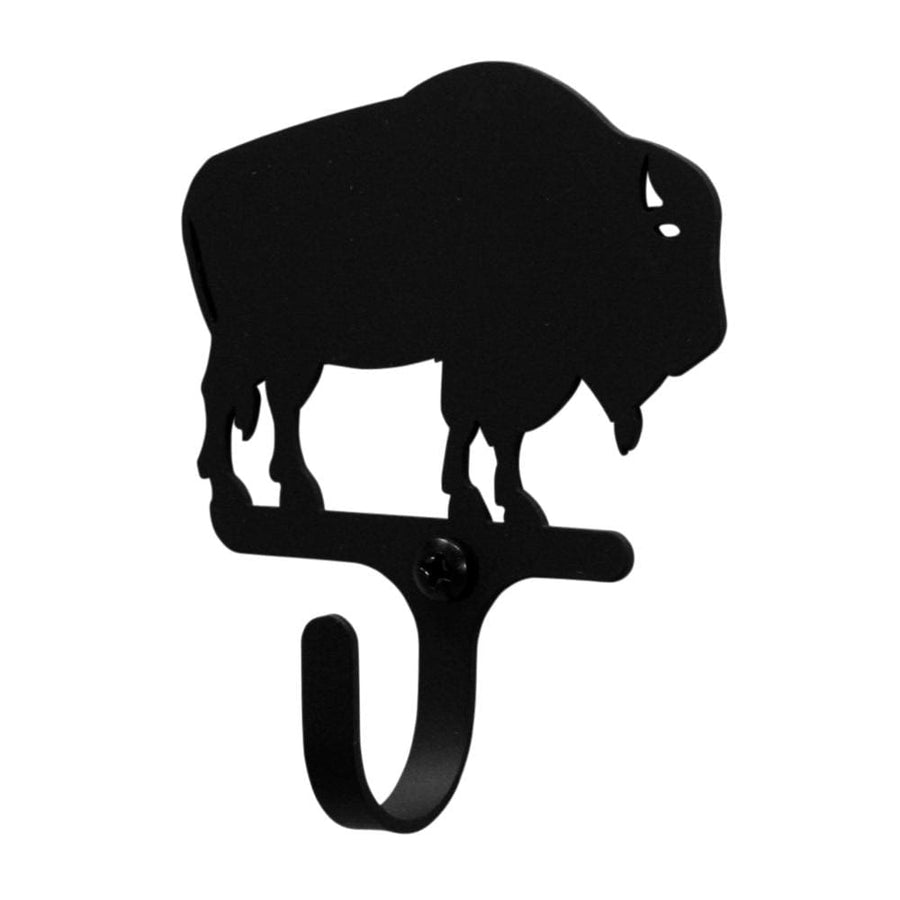 Wrought Iron Buffalo Wall Hook Decorative Xsmall buffalo hook Buffalo Wall Hook coat hooks door