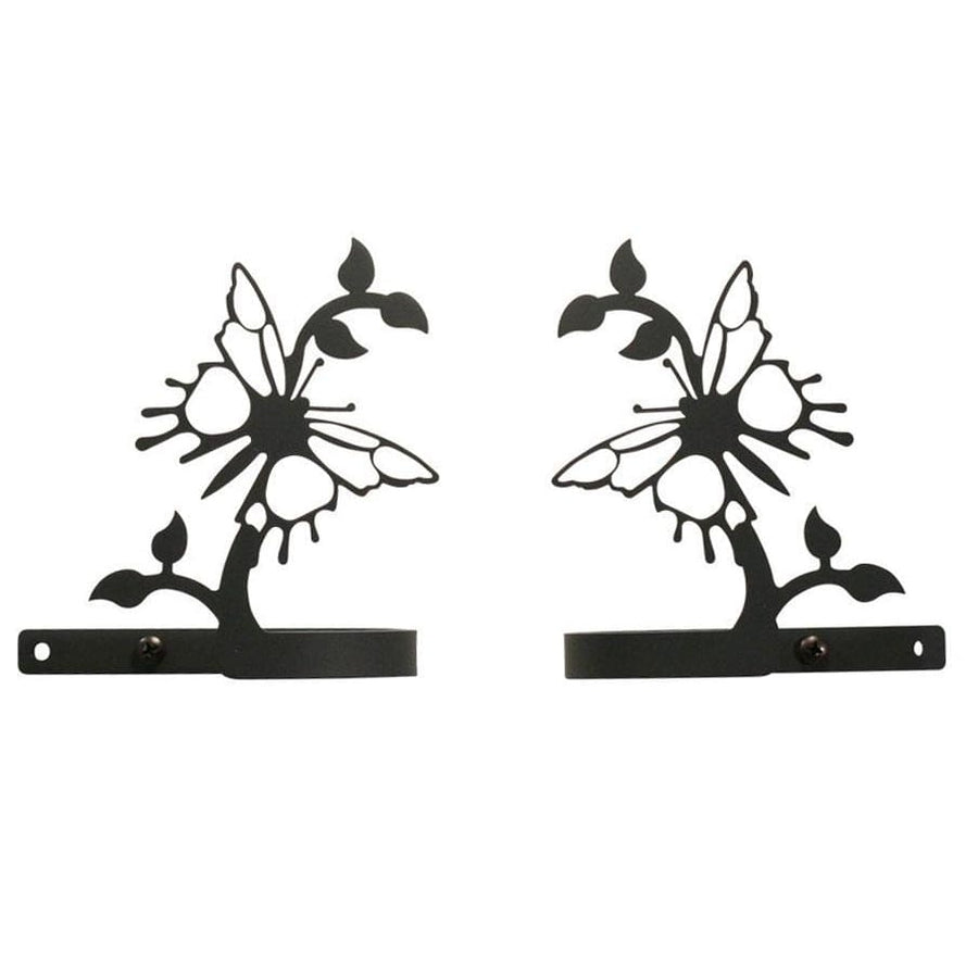 Wrought Iron Butterfly Curtain Tie Back Set curtain accessories curtain holdbacks curtain tie backs