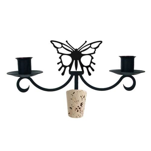 Wrought Iron Butterfly Taper Candle Bottle Top Candelabra candelabra candelabrum candle holder