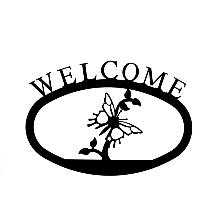 Wrought Iron Butterfly Welcome Home Sign Small door signs outdoor signs welcome home sign welcome