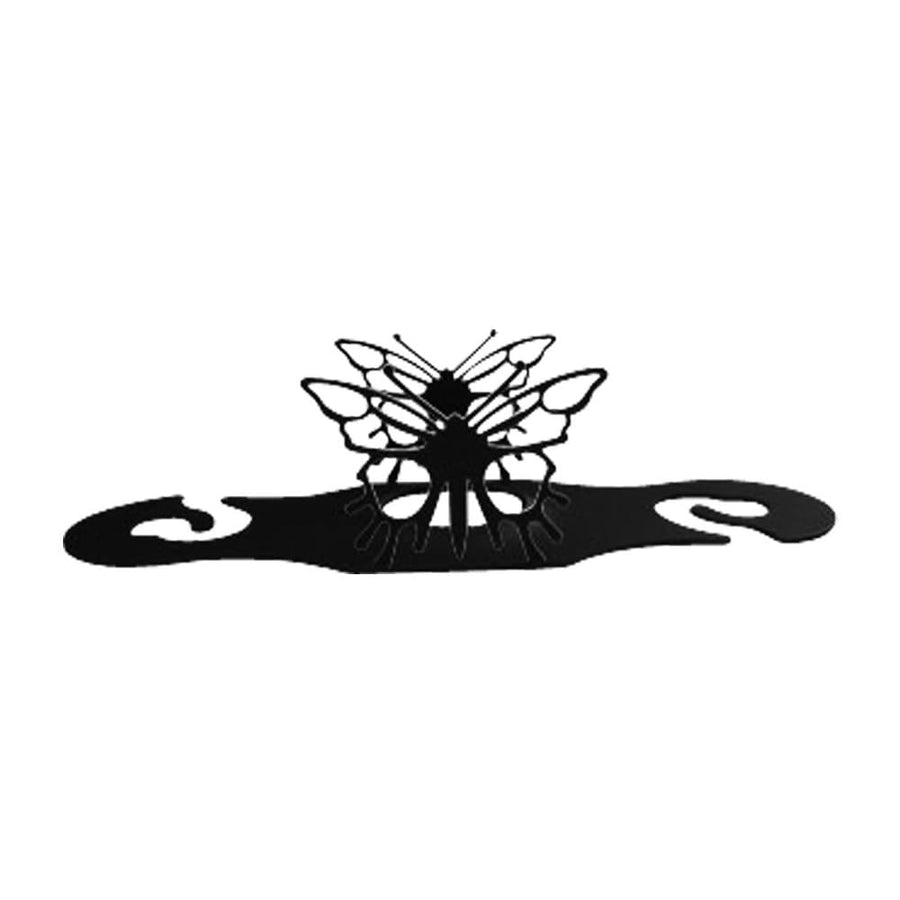 Wrought Iron Butterfly Wine Glass Holder wine bottle and glass holder wine bottle holder wine glass