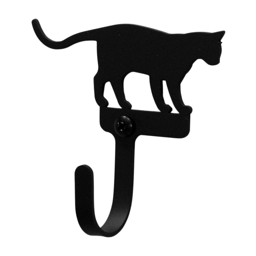 Wrought Iron Cat at Play Wall Hook Decorative Small Cat at Play Wall Hook cat hook coat hooks door