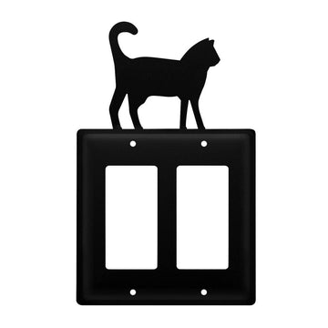 Wrought Iron Cat Double GFCI Cover light switch covers lightswitch covers outlet cover switch covers