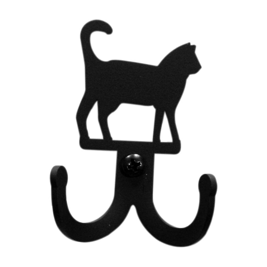 Wrought Iron Cat Double Wall Hook cat hook coat hooks door hooks hook wall hook