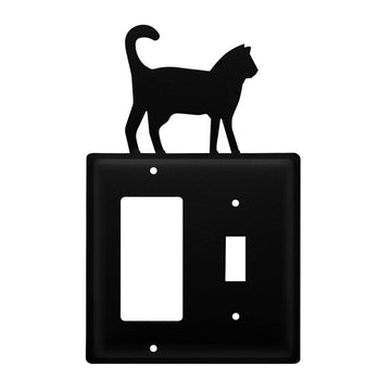 Wrought Iron Cat GFCI Switch Cover light switch covers lightswitch covers outlet cover switch covers