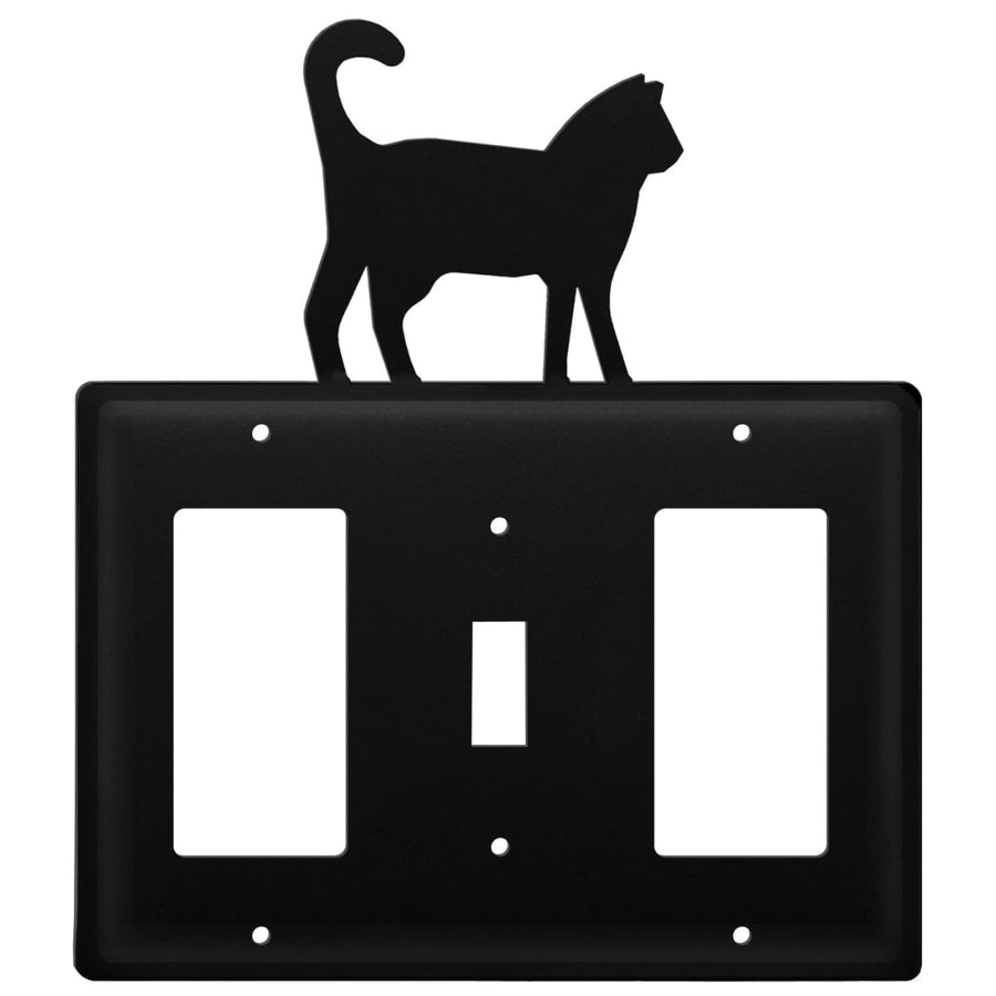 Wrought Iron Cat GFCI Switch GFCI Cover light switch covers lightswitch covers outlet cover switch
