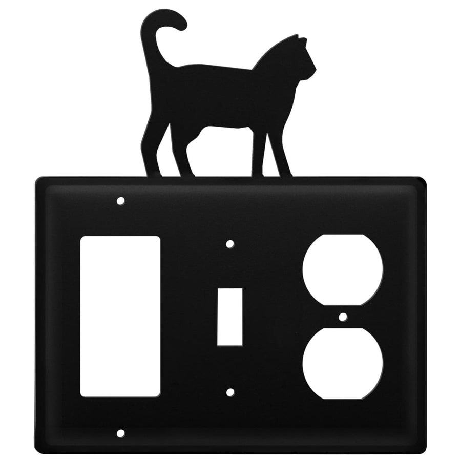 Wrought Iron Cat GFCI Switch Outlet Cover light switch covers lightswitch covers outlet cover switch