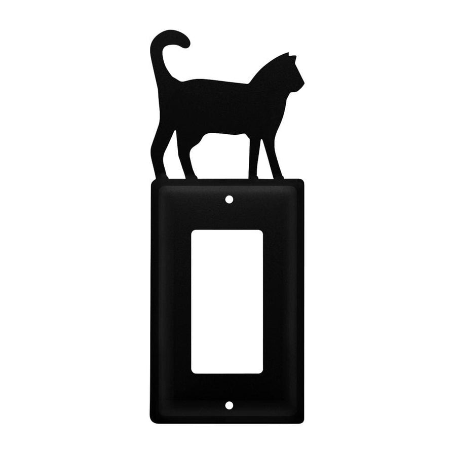 Wrought Iron Cat Single GFCI Cover light switch covers lightswitch covers outlet cover switch covers