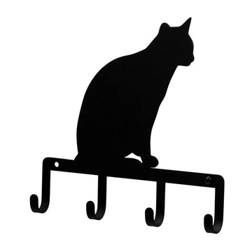 Wrought Iron Cat Sitting Key Holder Key Hooks key hanger key hooks Key Organizers key rack