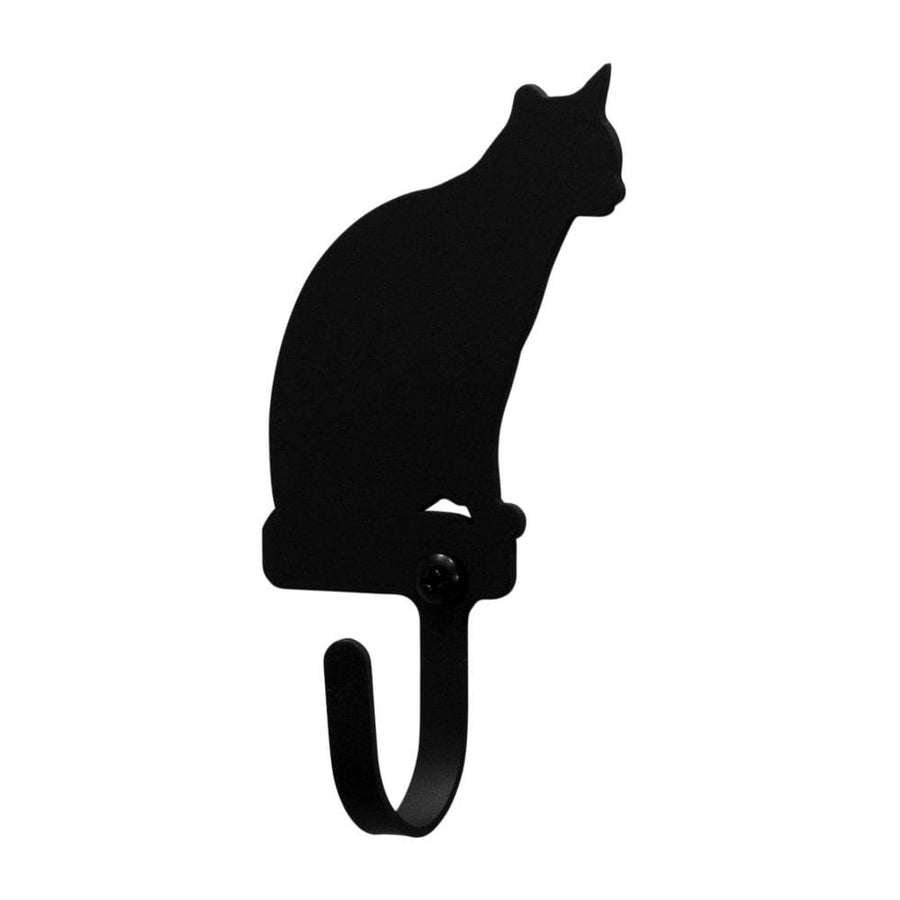 Wrought Iron Cat Sitting Wall Hook Decorative Small cat hook Cat Sitting Wall Hook coat hooks door