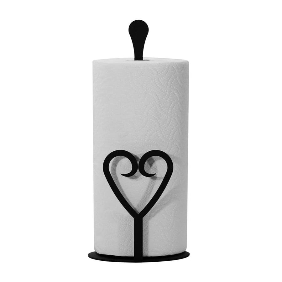 Wrought Iron Counter Top Heart Paper Towel Holder featured kitchen towel holder paper towel