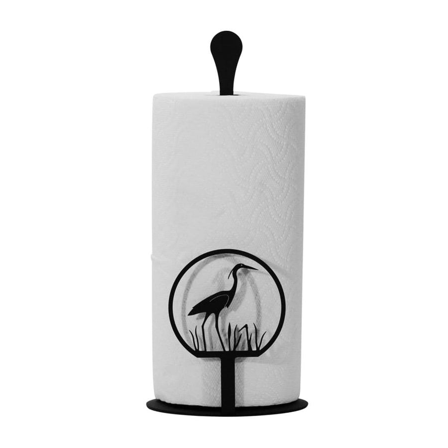 Wrought Iron Counter Top Heron Paper Towel Holder kitchen towel holder paper towel dispenser paper