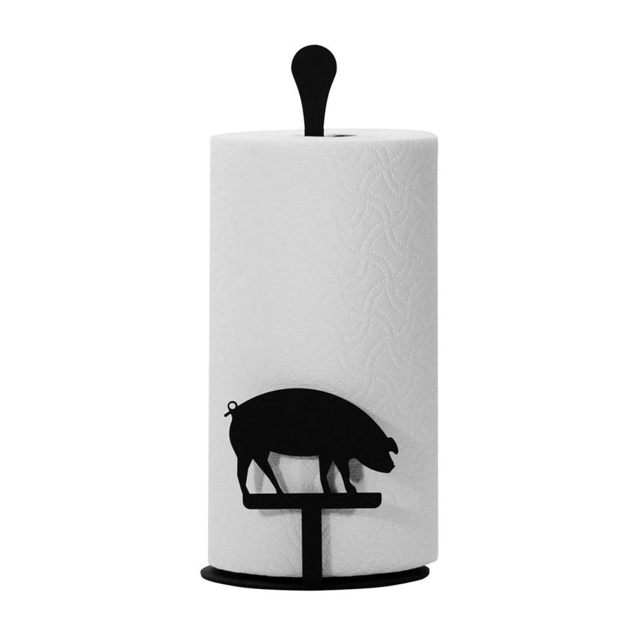 Wrought Iron Counter Top Pig Paper Towel Holder kitchen towel holder paper towel dispenser paper