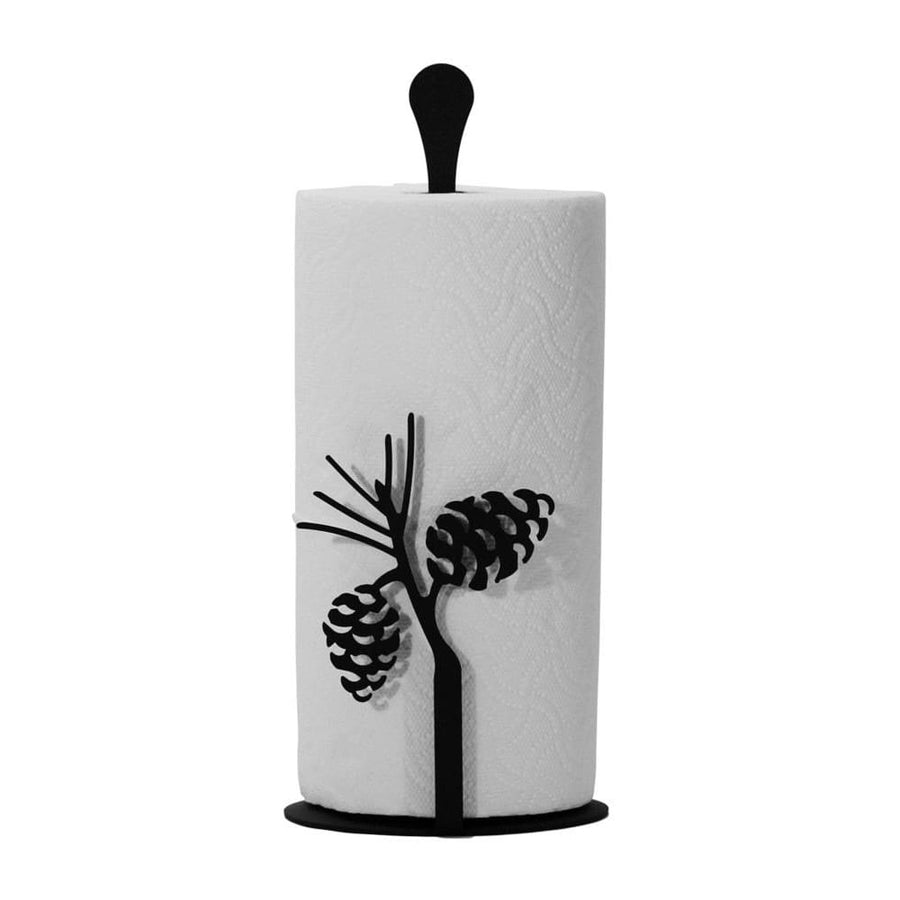 Wrought Iron Counter Top Pinecone Paper Towel Holder kitchen towel holder paper towel dispenser