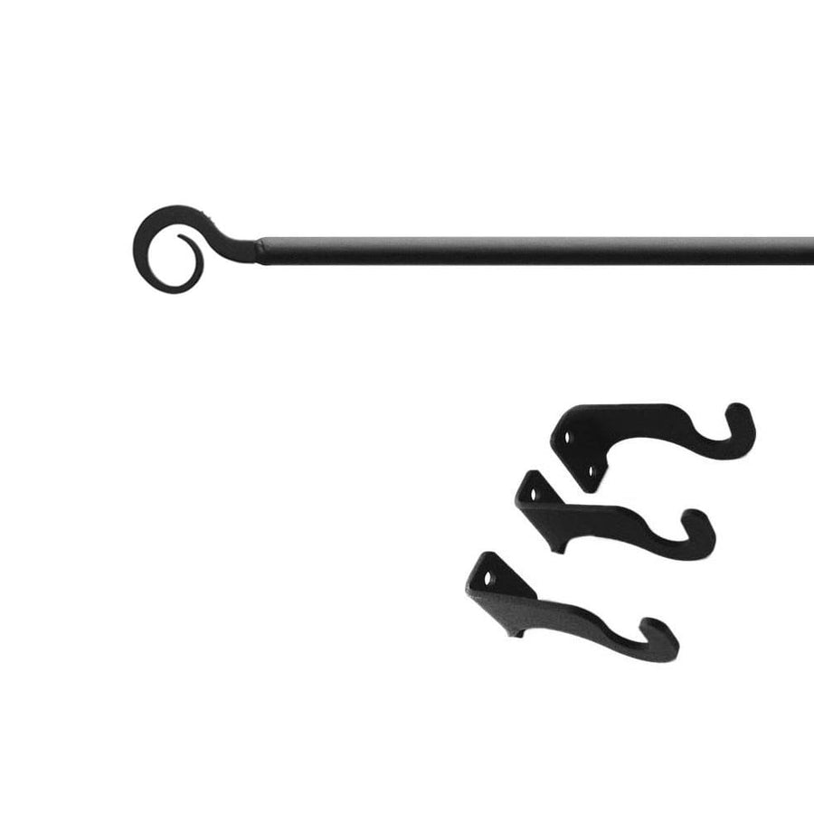 Wrought Iron Curl Curtain Rod curtain poles curtain rails curtain rod dragonfly decor featured