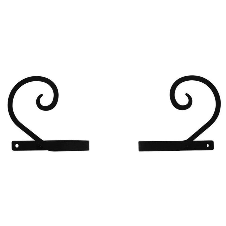 Wrought Iron Curl Curtain Tie Back Set curtain accessories curtain holdbacks curtain tie backs hold