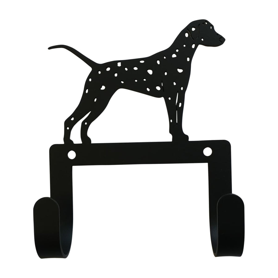 Wrought Iron Dalmatian Dog Leash & Collar Wall Hook dog hook dog key rack dog leash hook key rack