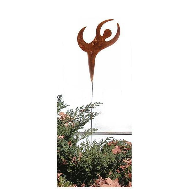 Wrought Iron Dancer Rusted Garden Stake 35 In garden art garden decor garden ornaments garden stake
