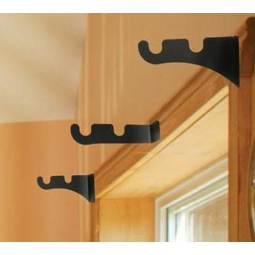 Wrought Iron DB - Curtain Brackets For .5 Inch Rods curtain brackets curtain hardware curtain pole