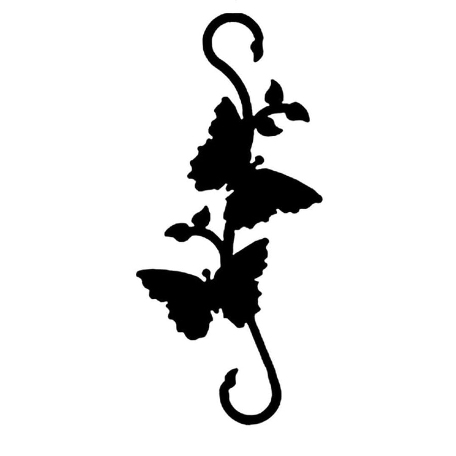 Wrought Iron Decorative Butterfly S Hook decorative butterfly S hook garden hook hanging plant hooks