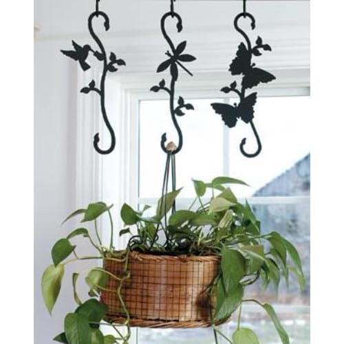 Wrought Iron Decorative Leaf S Hook garden hook hanging plant hooks plant hangers s hook wrought