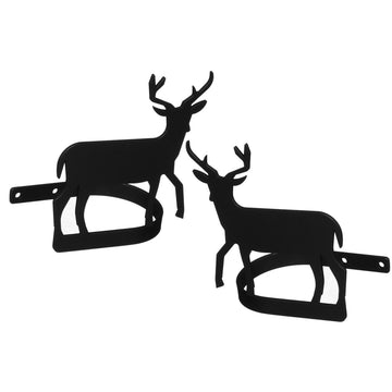 Wrought Iron Deer Curtain Tie Back Set curtain accessories curtain holdbacks curtain tie backs hold