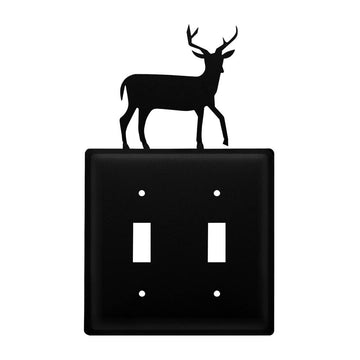 Wrought Iron Deer Double Switch Cover light switch covers lightswitch covers outlet cover switch