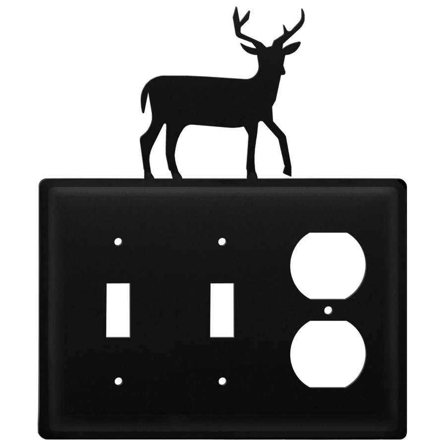 Wrought Iron Deer Double Switch Outlet Cover light switch covers lightswitch covers outlet cover