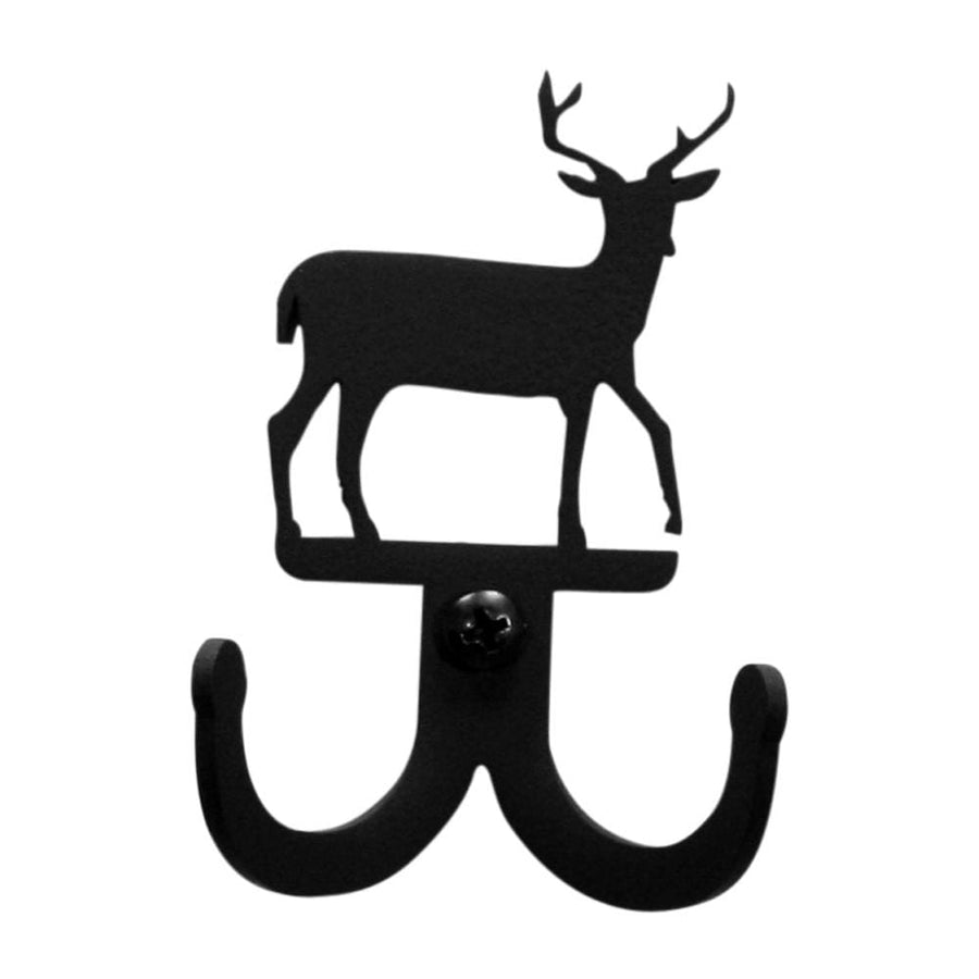 Wrought Iron Deer Double Wall Hook Decorative coat hooks Deer Double Wall Hook deer hook door hooks