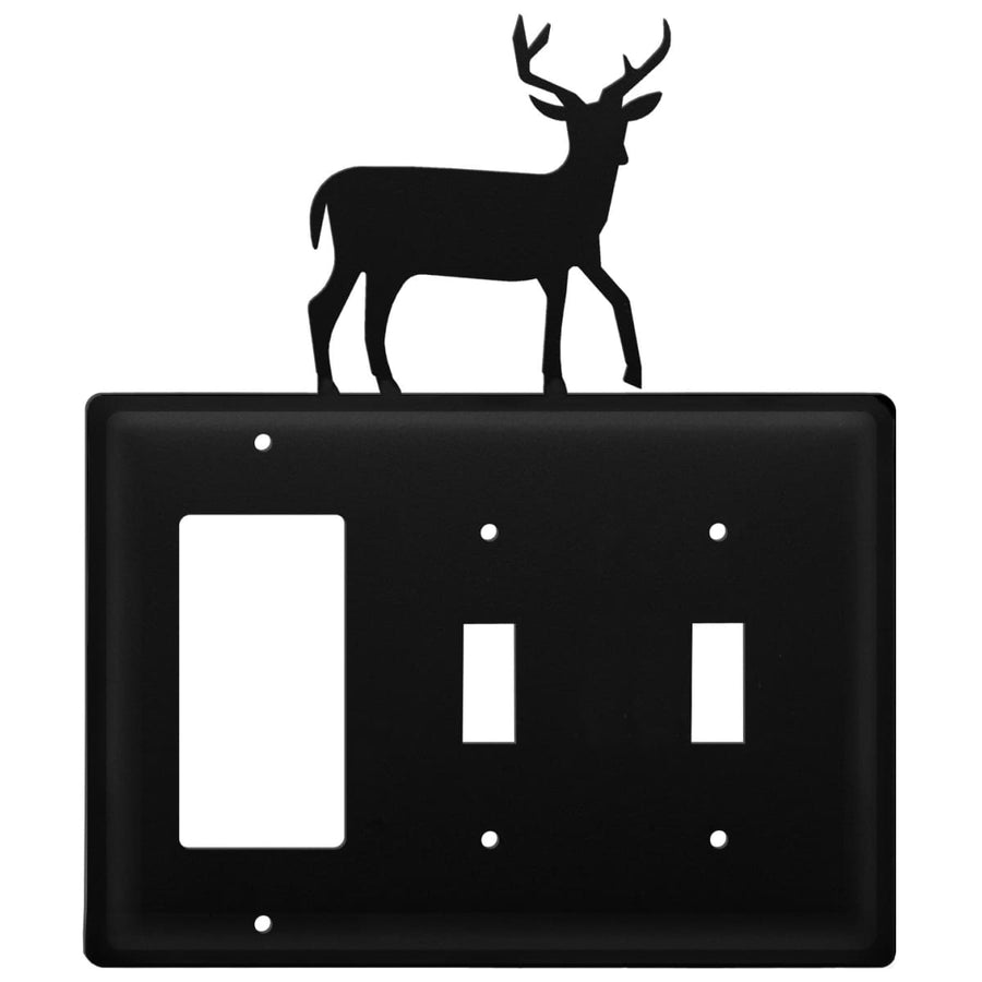 Wrought Iron Deer GFCI Double Switch Cover light switch covers lightswitch covers outlet cover