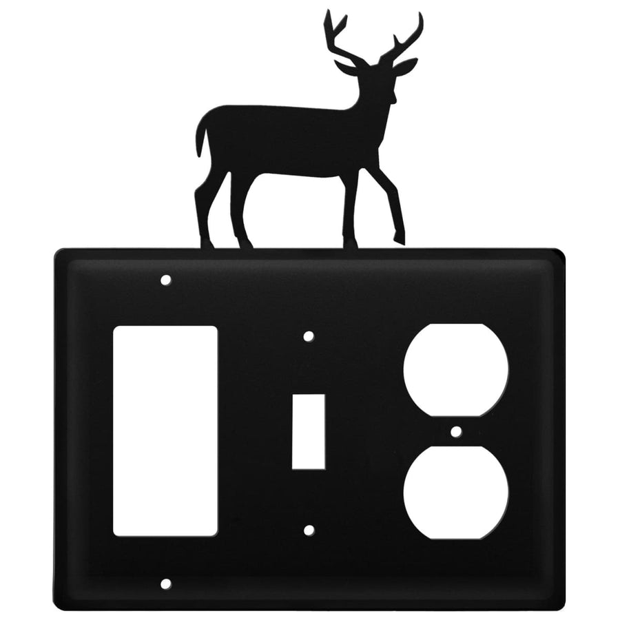 Wrought Iron Deer GFCI Switch Outlet Cover light switch covers lightswitch covers outlet cover