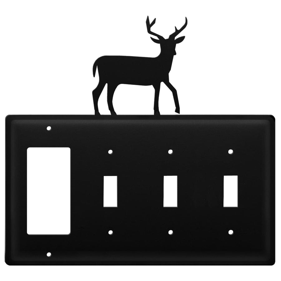 Wrought Iron Deer GFCI Triple Switch Cover light switch covers lightswitch covers outlet cover