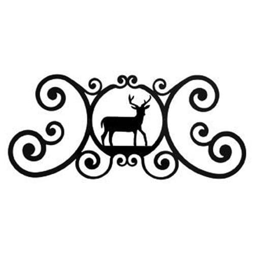 Wrought Iron Deer Over Door Plaque door plaque house signs metal name plaques metal plaques name