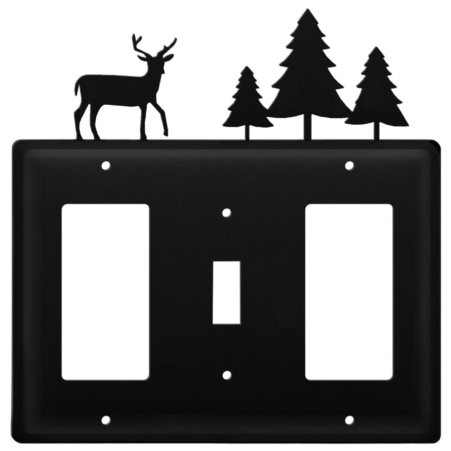 Wrought Iron Deer Pine Trees GFCI Switch GFCI Cover light switch covers lightswitch covers outlet